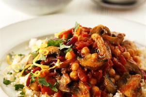 Autumn Moroccan Mushrooms with Couscous