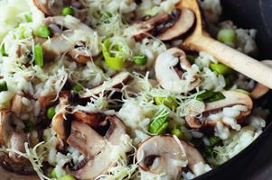 Cheddar Gorgeous Mushroom and Leek Risotto