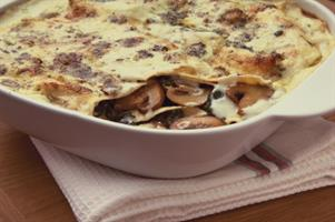 Chestnut Mushroom, Spinach & Blue Cheese Lasagne