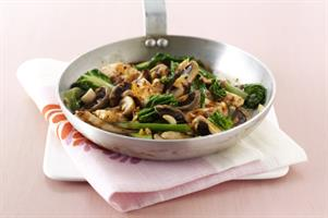 Chicken with Mushrooms and Black Bean Sauce