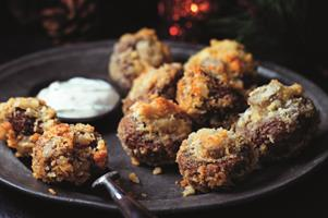 Crunchy Crumbed Mushrooms