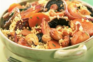 Eastern Mushroom and Vegetable Couscous