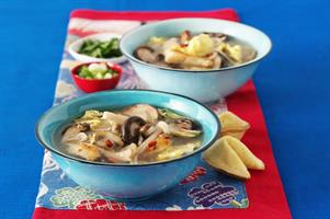 Hot & Sour Chicken & Exotic Mushroom Soup