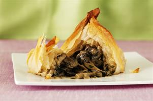 Jean-Christophe Novelli's Strudel of Roast Portabello Mushroom