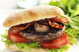 Mega Mushroom and Bacon Burger
