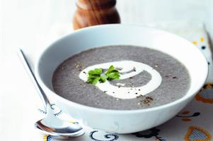 Mushroom, Garlic and Parsley Soup