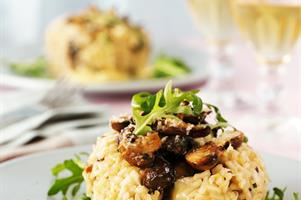 Mushroom & Brie Risotto Cakes