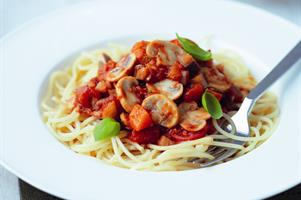 Mushroom and Tomato Bolognese