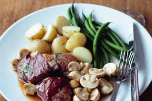Parma Pork Fillet with Mushrooms in Marsala