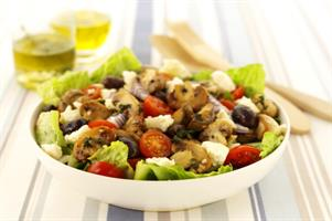 Warm Mushroom Salad with Feta