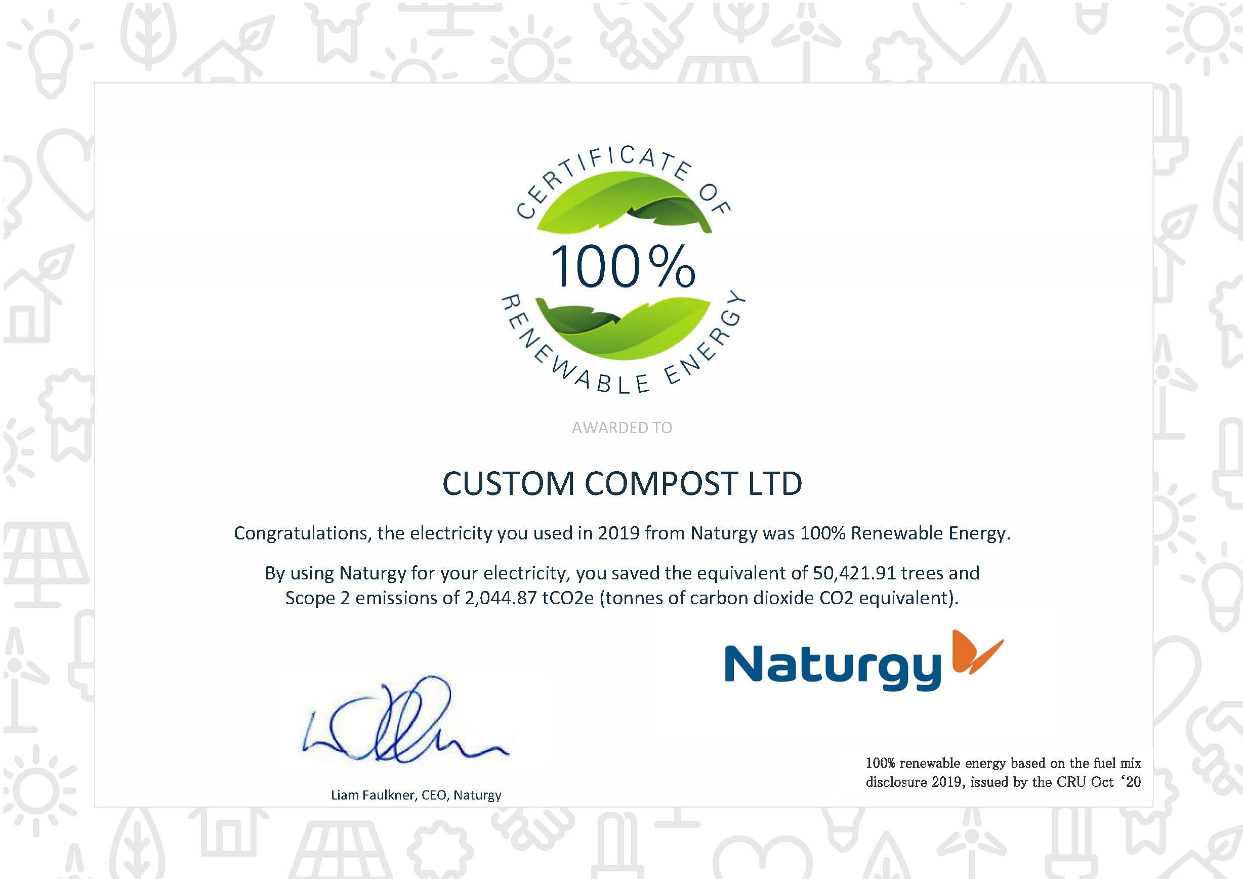 Renewable Energy - Custom Compost