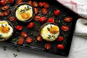 Eggy Stuffed Mushrooms