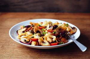 Mushroom and Chilli Chicken Tagliatelle
