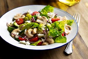 Mushroom and Feta Cheese Salad