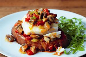 Oven-baked Cod on Hot Mushroom Salsa