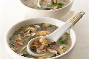 Shiitake And Tiger Prawn Soup
