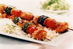 South Korean Mushroom Kebabs