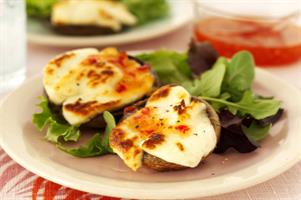 Sweet Chilli Mushrooms with Haloumi Cheese